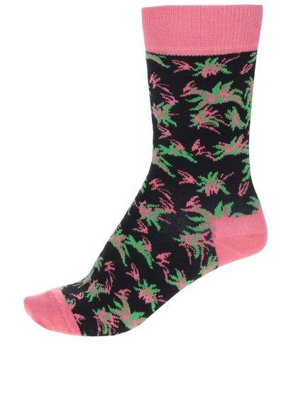 Korálově-černé dámské ponožky Happy Socks Aloha