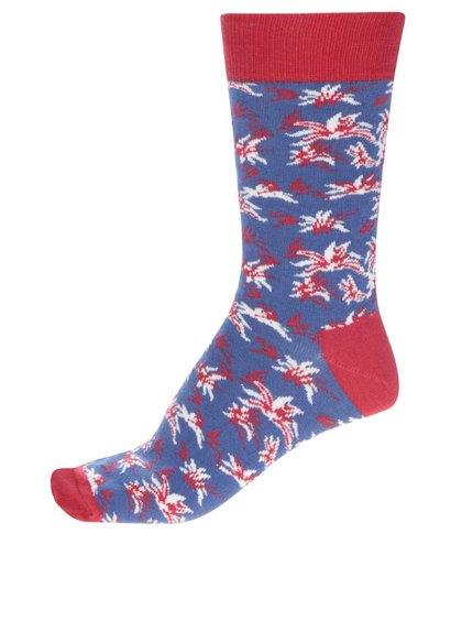 Červeno-modré pánské ponožky Happy Socks Aloha