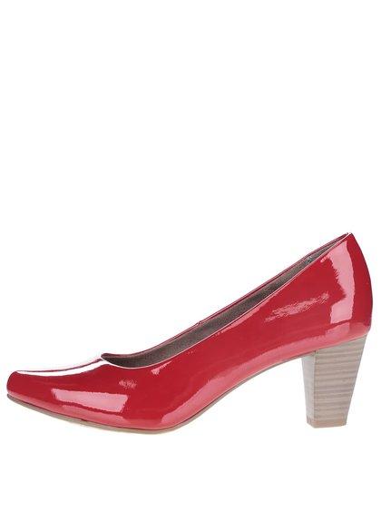 Pantofi cu toc roșii Tamaris lăcuiți
