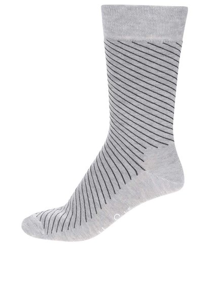 Sivé pánske pruhované ponožky Happy Socks Essentials