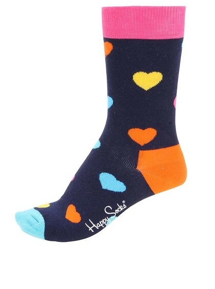 Șosete multicolore unisex cu imprimeu Happy Socks Heart