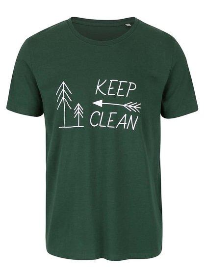 """""""Dobré"""" zelené pánské triko KEEPItCLEAN"""