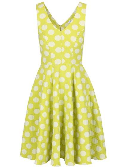 Svetlozelené šaty s krémovými bodkami Closet