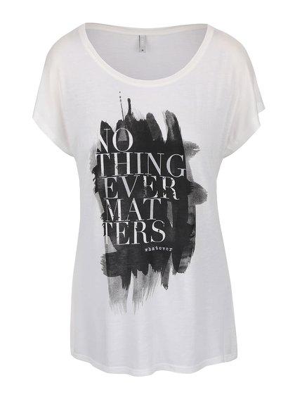 Krémové tričko s potlačou ONLY Favourite