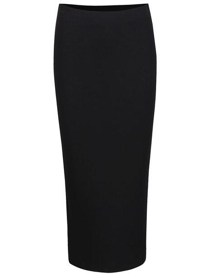 Čierna dlhá sukňa s rozparkom na zadnej strane Dorothy Perkins