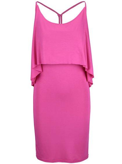 Ružové šaty na ramienka pre dojčiace mamičky GLO GLO
