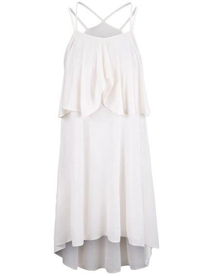 Krémové voľnejšie šaty pre dojčiace mamičky GLO GLO