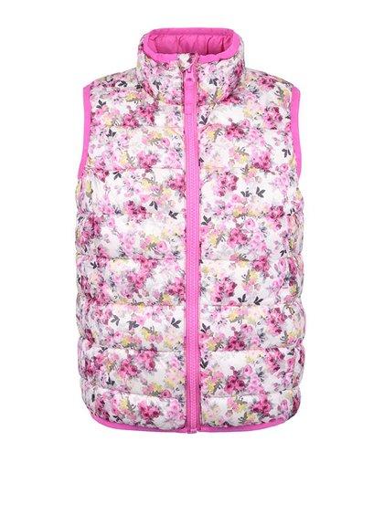 Krémová dievčenská vesta s kvetmi Tom Joule Croft