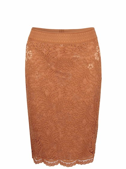 Světle hnědá krajkovaná sukně Vero Moda Celebe