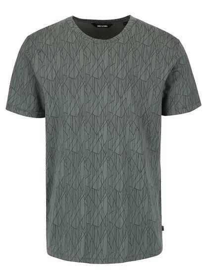 Tmavě zelené triko se vzorem ONLY & SONS Now