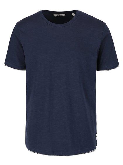 Tricou albastru ultramarin din bumbac