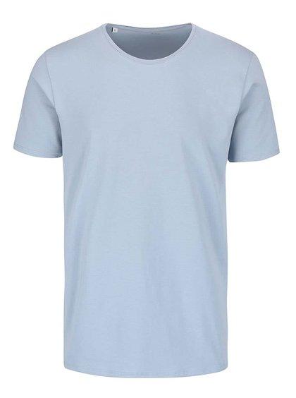 Svetlomodré tričko s okrúhlym výstrihom Selected Homme Pima