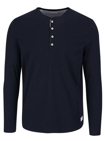 Tmavě modré triko s dlouhým rukávem Selected Homme Niklas