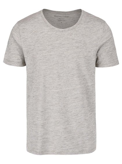 Tricou gri Selected Homme Pima Dave