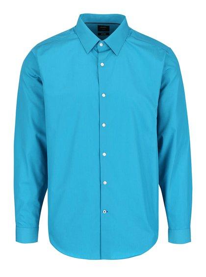 Tyrkysová formálna slim fit košeľa Burton Menswear London