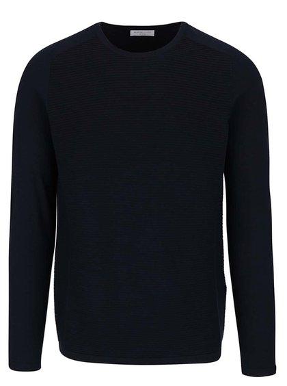 Bluză albastru ultramarin din jerseu Selected Homme Bake