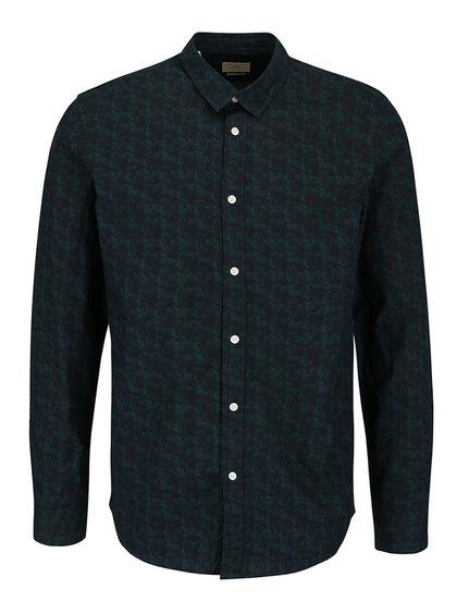 Čierno-zelená vzorovaná košeľa Selected Homme One Bob