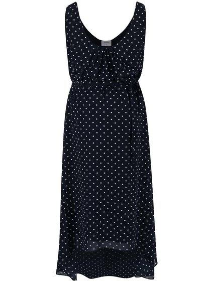 Tmavě modré těhotenské šaty s puntíky Mama.licious Ellie