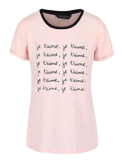 Ružové tričko s potlačou Dorothy Perkins