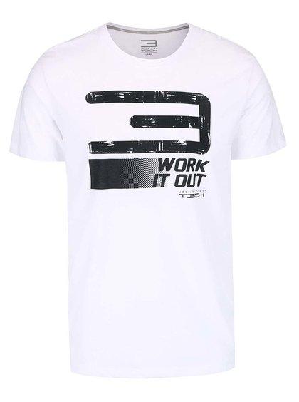 Bílé triko s potiskem Jack & Jones Field