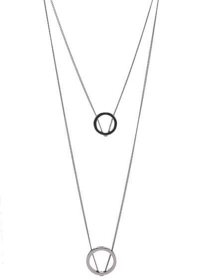 Sivý dlhý kaskádovitý náhrdelník Pieces Polly