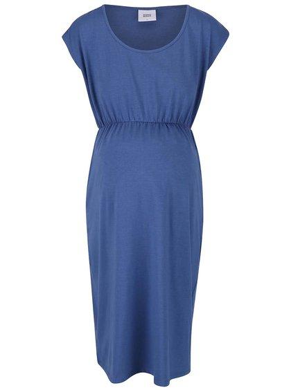 Tmavě modré těhotenské šaty Mama.licious Peri