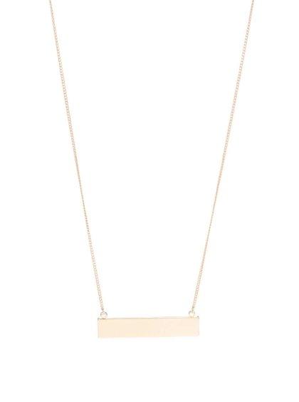 Dlhý náhrdelník v zlatej farbe s obdĺžnikovým príveskom Pieces Perula