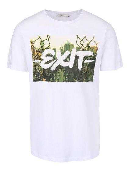 Bílé triko s potiskem Jack & Jones Roli