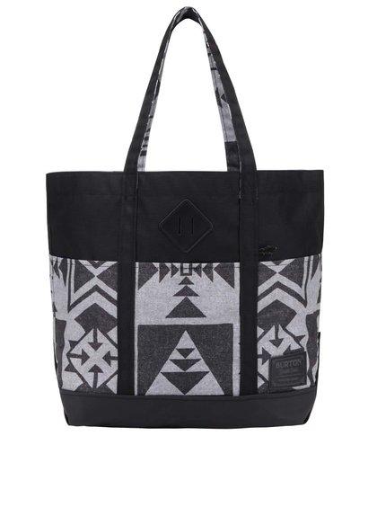 Šedo-černá dámská vzorovaná taška Burton Crate