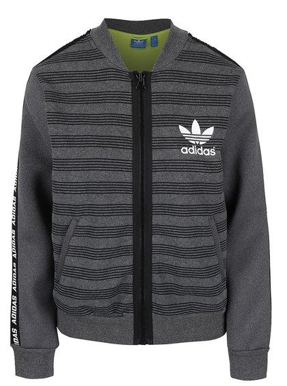 Bluză gri cu fermoar Adidas Originals de damă