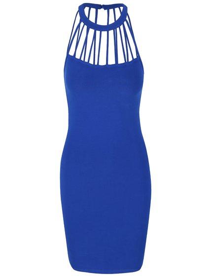 Modré šaty s detaily u krku TALLY WEiJL