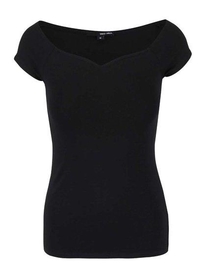 Čierne tričko s krátkym rukávom TALLY WEiJL Star