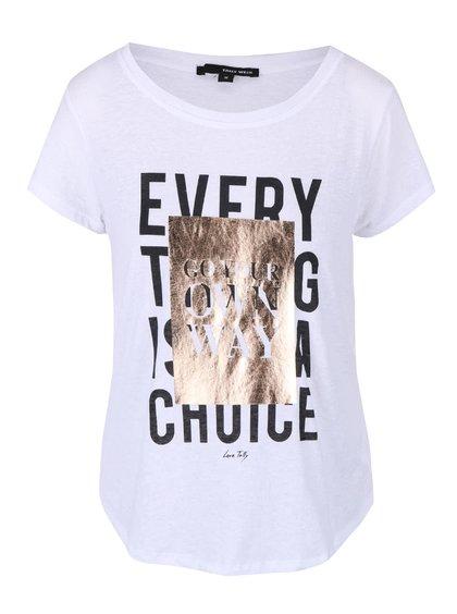 Biele tričko s potlačou TALLY WEiJL Westin