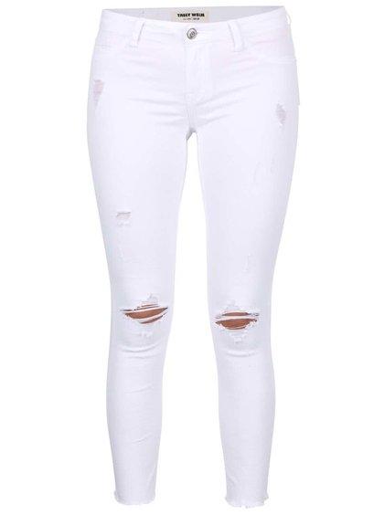 Bílé džíny s potrhaným efektem TALLY WEiJL