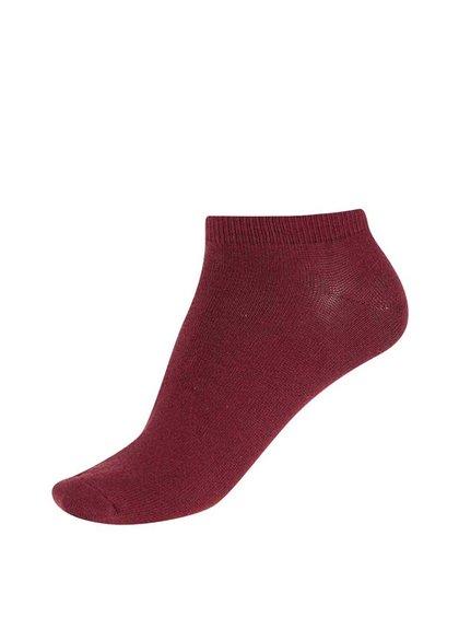 Vínové kotníkové ponožky Jack & Jones Plain