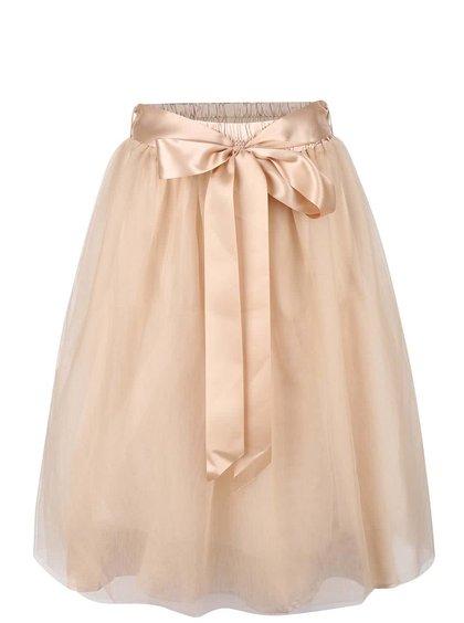 Béžová sukně se stuhou v pase Apricot