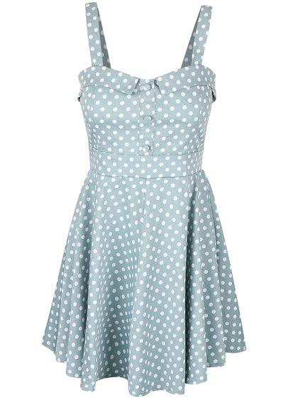 Rochie albastră cu buline Apricot