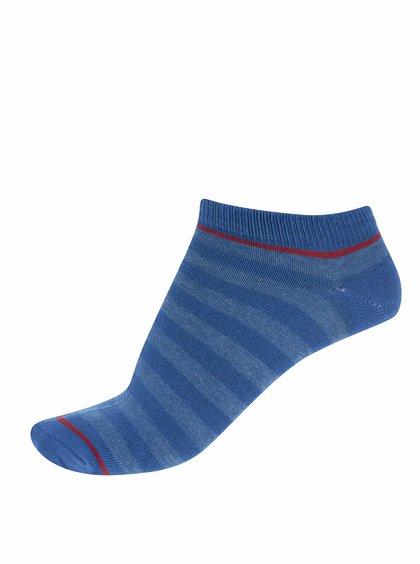 Modré ponožky s červeným pruhom Jack & Jones Plain