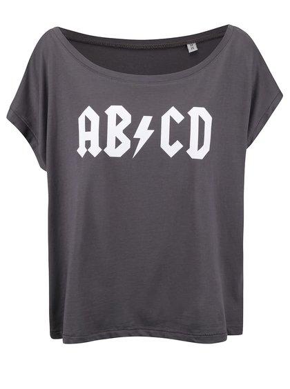 Sivé dámske voľnejšie tričko ZOOT Originál ABCD