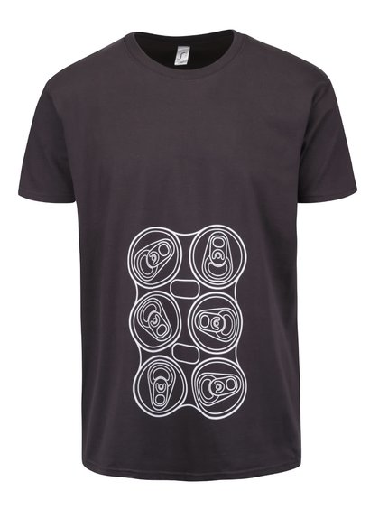 Šedé pánské triko s potiskem ZOOT Originál Six Pack