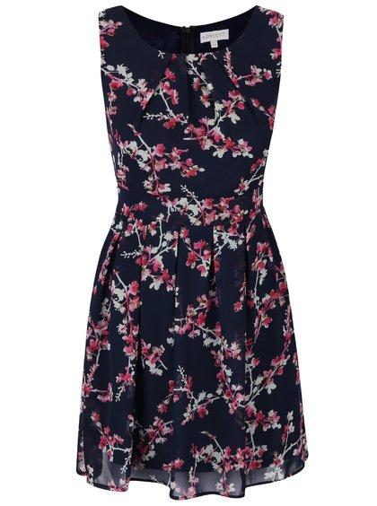 Tmavě modré šifonové šaty s květinovým vzorem Apricot