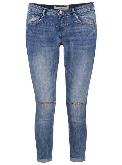 Modré skinny džíny s roztrhanými koleny TALLY WEiJL