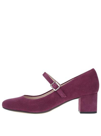 Pantofi roz Clarks Chinaberry Pop din piele