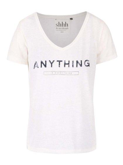 Krémové volné tričko s potiskem ONLY Kimmi