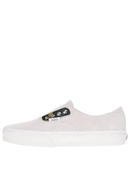 Teniși slip-on unisex bej Vans Authentic