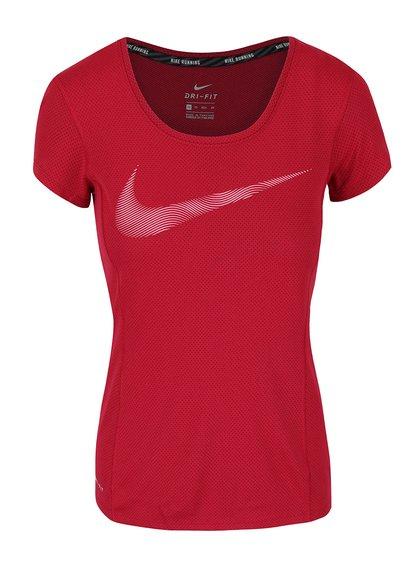 Tricou roșu Nike Dry Contour