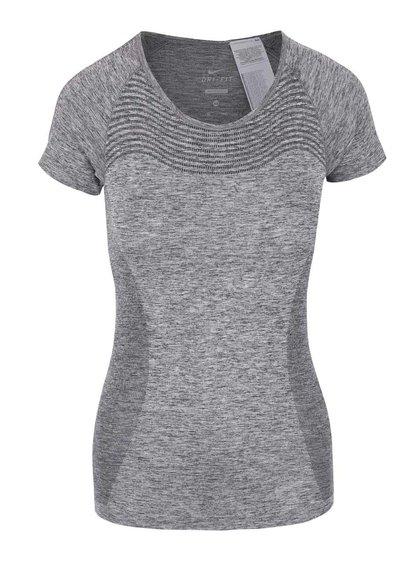 Sivé dámske tričko Nike Dri-Fit Knih
