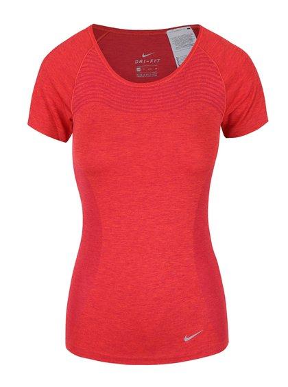 Červené dámské tričko Nike Dri-Fit Knit
