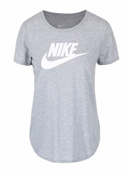 Tricou gri cu imprimeu cu logo Nike Tee-Icon Futura