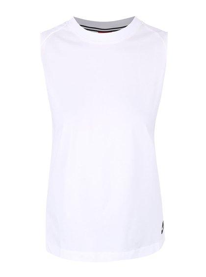 Top alb Nike Tank Bnd cu pliuri pe spate